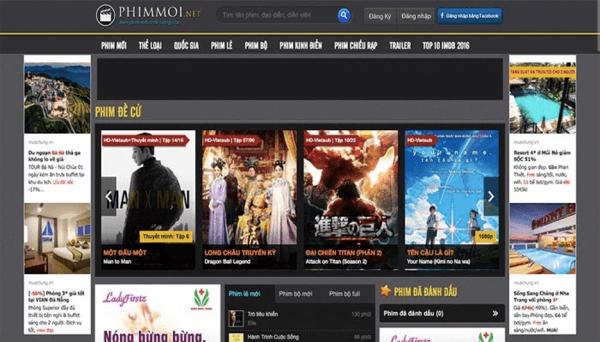 Web xem phim trực tuyến miễn phí Phimmoi.net
