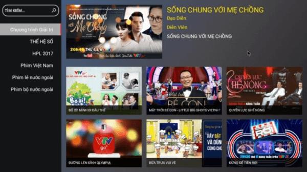 Web xem phim trực tuyến miễn phí VTVgo.vn