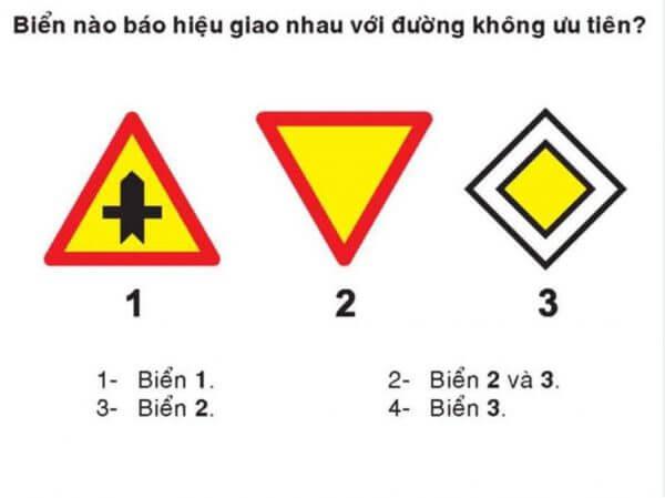 Những câu hỏi về biển báo giao thông