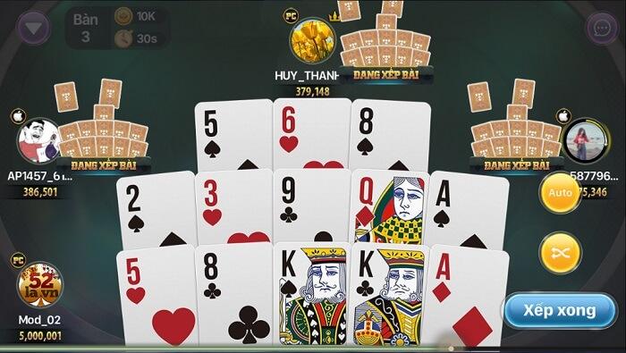 Mậu Binh game bài cho điện thoại hấp dẫn