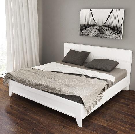 Mẫu giường ngủ trắng hiện đại