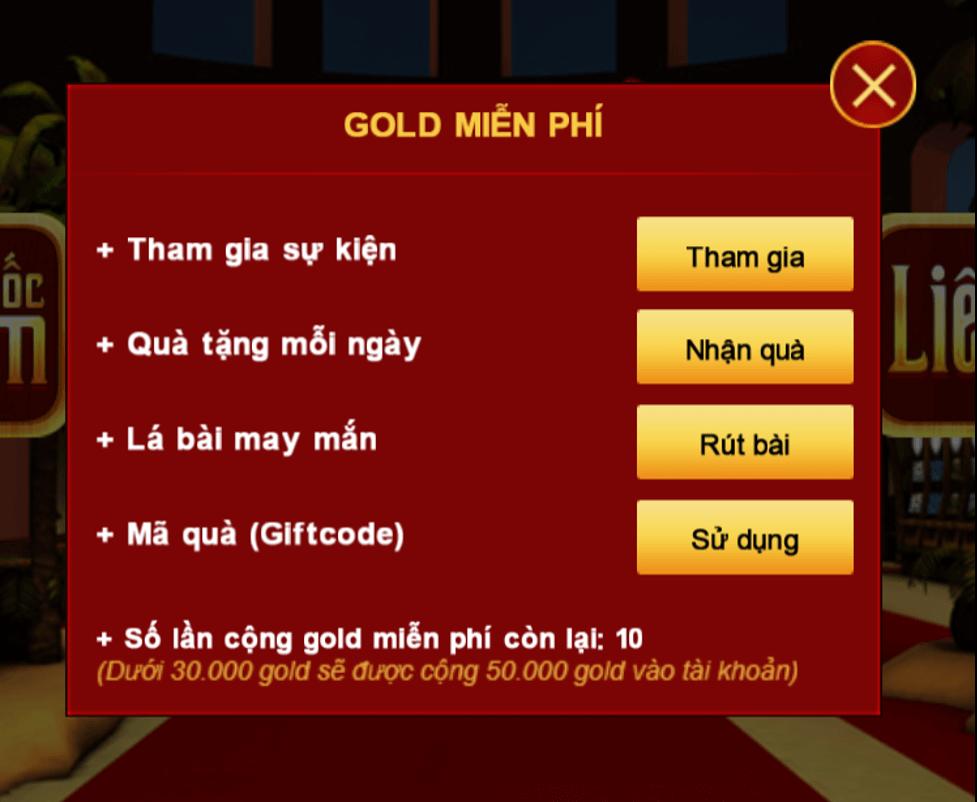 Nhận gold miễn phí tại Sanhbai com
