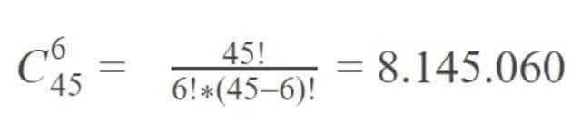 Cách tính xác suất mega 6/45
